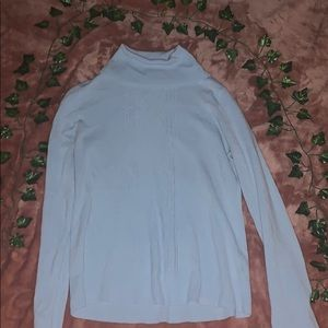 Carolyn Taylor bay blue turtle neck